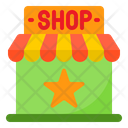 Shopping Online Star Shop Icon