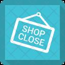 Shop Close Signboard Icon