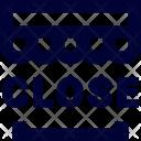 Close Shop Label Icon