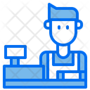 Counter Shop Man Icon