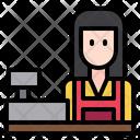 Shop Counter Woman Icon