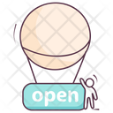 Shop Label Open Label Open Sign Icon