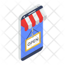 Shop Open Mobile Shop Mobile Store Icon
