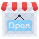 Shop Open Open Board Hanging Board Icon