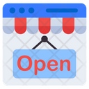 Shop Open Store Open Hanging Board Icon