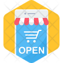 Shop Opening Shopping Icon