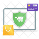 Shop Safe Secure Shopping Secure Ecommerce Icon