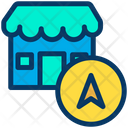 Shope Direction Shope Location Navigation Pointer Icon