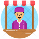Salesperson Seller Shopkeeper Icon