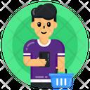 Shopping Person Shopper Shopping Man Icon
