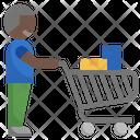 Shopper Shopping Man Shopping Cart Icon