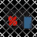 Bag Cart Sale Icon