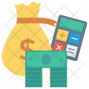 Shopping Moneybag Calculator Icon