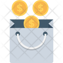 Shopping Bag Money Icon