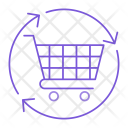 Reload Shopping Trolley Icon