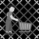 Shopping Holding Cart Icon
