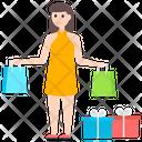 Shopping Purchasing Shopping Girl Icon