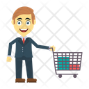 Shopping Employee Man Icon