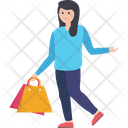 Purchasing Shopping Shopping Girl Icon