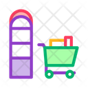 Food Cart Counters Icon
