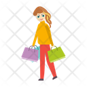 Girl Shopping Buying Icon
