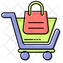 Shopping Bags Trolly Icon