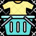 Shopping Basket T Shirt Icon