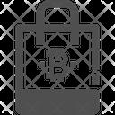 Shopping Bitcoin Bag Bitcoin Sack Icon
