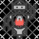 Shopping Robot Service Icon
