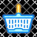 Shopping Plastic Basket Icon