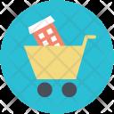 Shopping Cart Apartment Icon