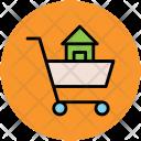 Shopping Cart House Icon