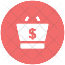 Shopping Basket Dollar Icon