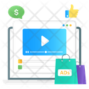 Online Ads Online Marketing Shopping Promotion Icon