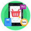 Mobile Ads Shopping Ads Mcommerce Icon