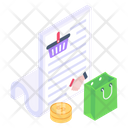 Shopping Contract Shopping Agreement Shopping Paper Icon