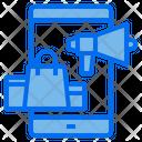 Mobile Megaphone Shopping Icon