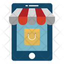 M Commerce Online Shopping Tote Bag Icon