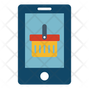 M Commerce Online Shopping Basket Icon