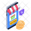 Buy Now Shopping Payment Mobile Shopping Icon