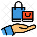 Shopping Bag Hands Bag Icon