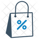 Discount Sale Shopping Bag Icon