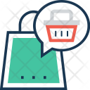 Shopping Chat Bubble Icon