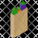 Organic Shopping Bag Icon