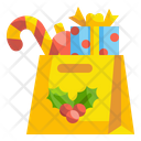 Shopping Bag Gifts Candy Icon