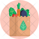 Salad Healthy Shopping Bag Icon