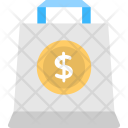 Shopping Bag Dollar Icon