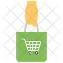 Hand Holding Shopping Bag Grocery Bag Icon