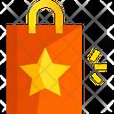 Shopping Bag Christmas Shopping Handbag Icon