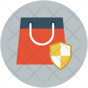 Shopping bag shield Icon